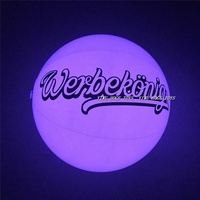 Cheapest inflatable Light Up beach ball ,LED beach ball with your logo printing