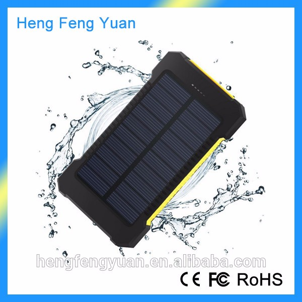 2017 Trending Products 10000mAh Li-on Polymer Battery Waterproof Solar Power Bank With Flashlight Compass for Outdoor