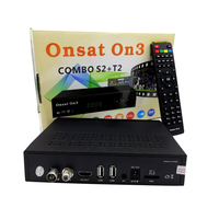 africa Onsat On3 DVB-S2/T2 Combo mepg4 gprs powervu autoroll decoder with Tcam code open 16E MYTV& 22W channels