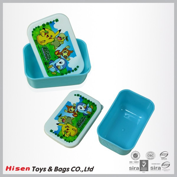 Fancy heat transfer printed logo small plastic containers with lids