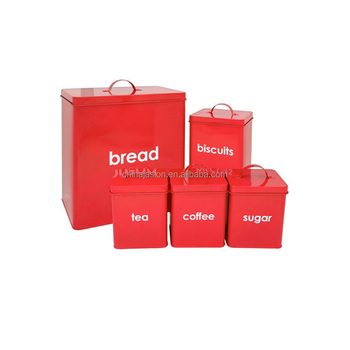 Set Of 5 Vintage Stackable Kitchen Storage Bread Bin Biscuit Tea Coffee Sugar Canister Set Buy Bread Bin Biscuit Tea Coffee Sugar Canister Setbread