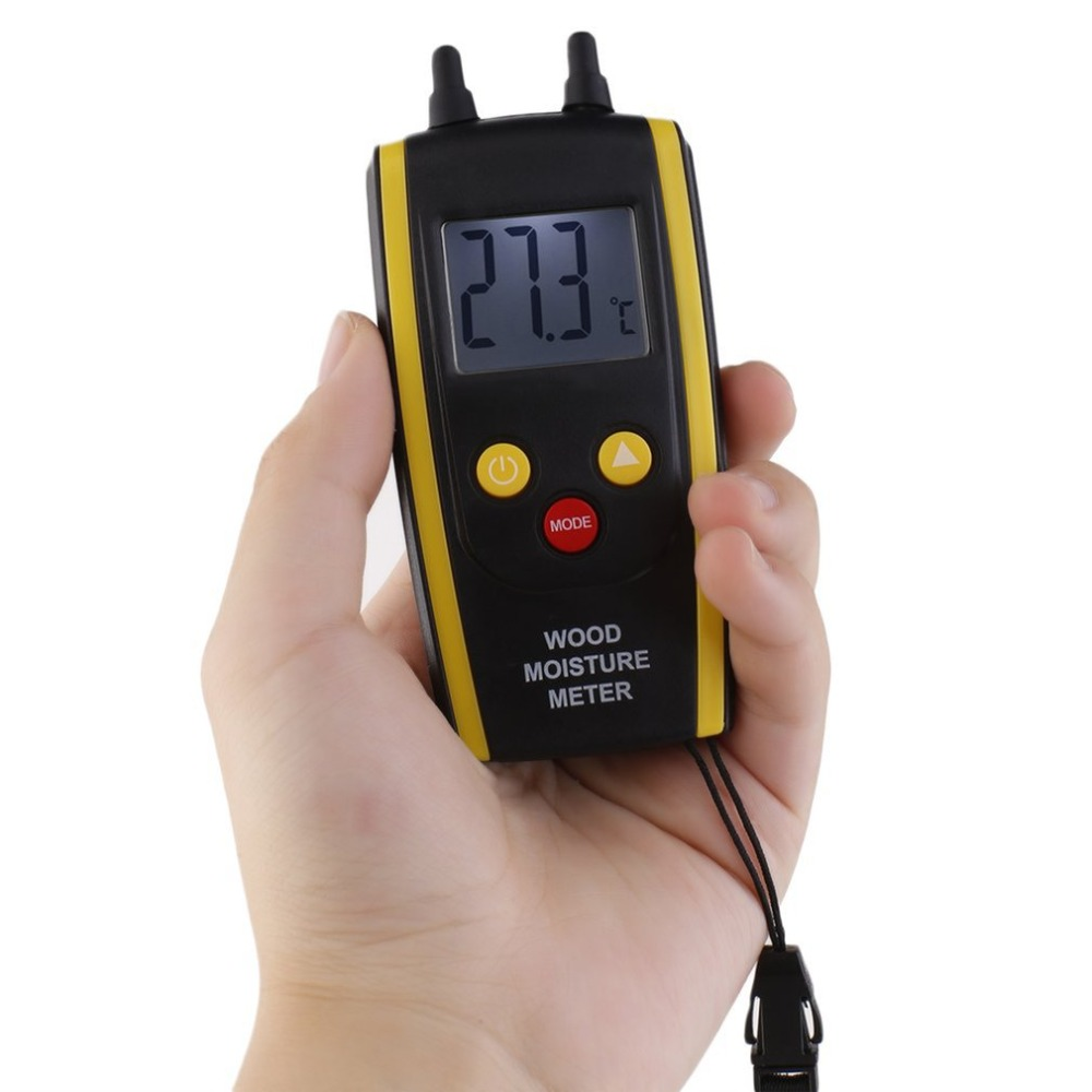 Digital LCD Wood Moisture Meter 6% ~ 48% For Plants Hygrometer Ambient Temperature Measurement Tester