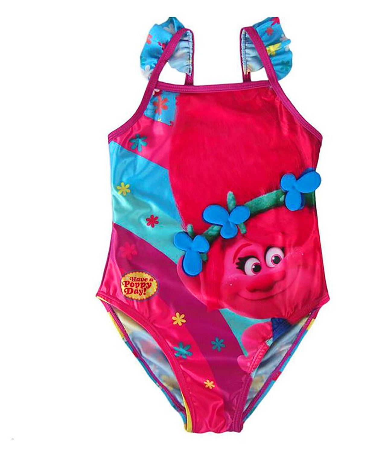 2ea962c6b6a Get Quotations · Trolle DreamWorks Kids Swimsuit Trolls|Poppy Rainbow  Swimwear Official Licenced,5 Sizes(3