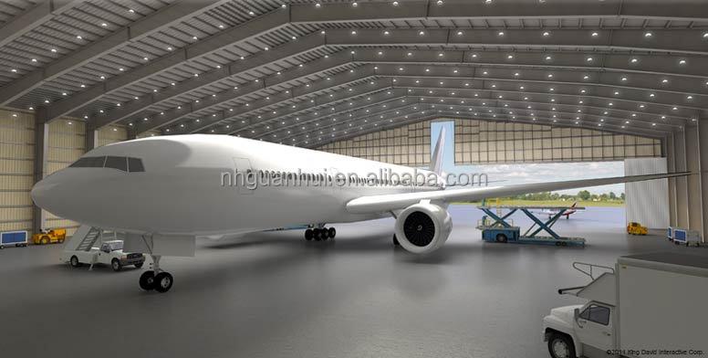 Barato acero prefabricado modular hangar de aviones - Acero modular precios ...