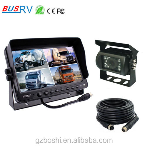 7inch TFT LCD digital screen quad back up security monitor system