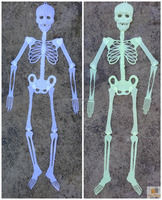 90cm Glow in the Dark Skeleton Halloween Plastic Props Hanging Scary Spooky Decoration HD6047