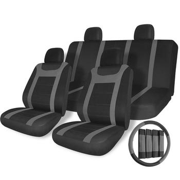 X-racing Iasc-005b-g Car Seat Cover Leather For Toyota Axio,Mesh Car ...