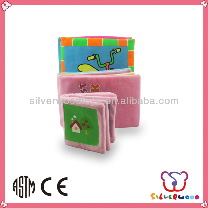 OEM Educational Plush Baby Cloth Book Stuffed With Sponge