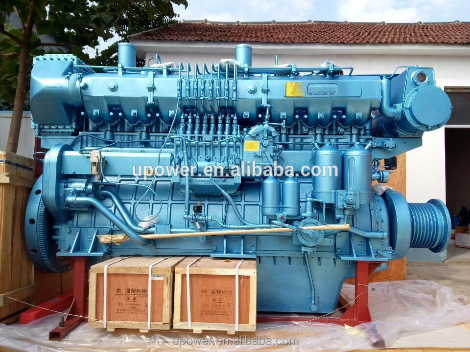 New product! 818hp WEICHAI X8170 series marine diesel engine in WEIFANG China.