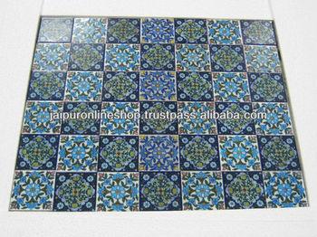 Jaipur Blue Pottery Indian Bluepottery Tiles Handmade Tiles Jaipur Buy Jaipur Blue Pottery