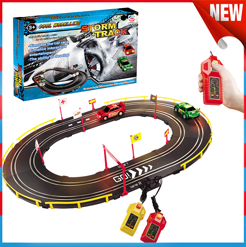 50Pcs High Speed Remote Control Racing Car Railway Car Toys Set
