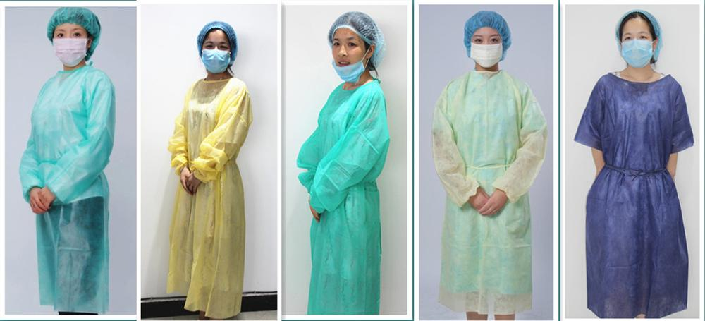 Medical Doctor\'s Disposable Isolation Gown Pp Surgical Clothes Ce ...