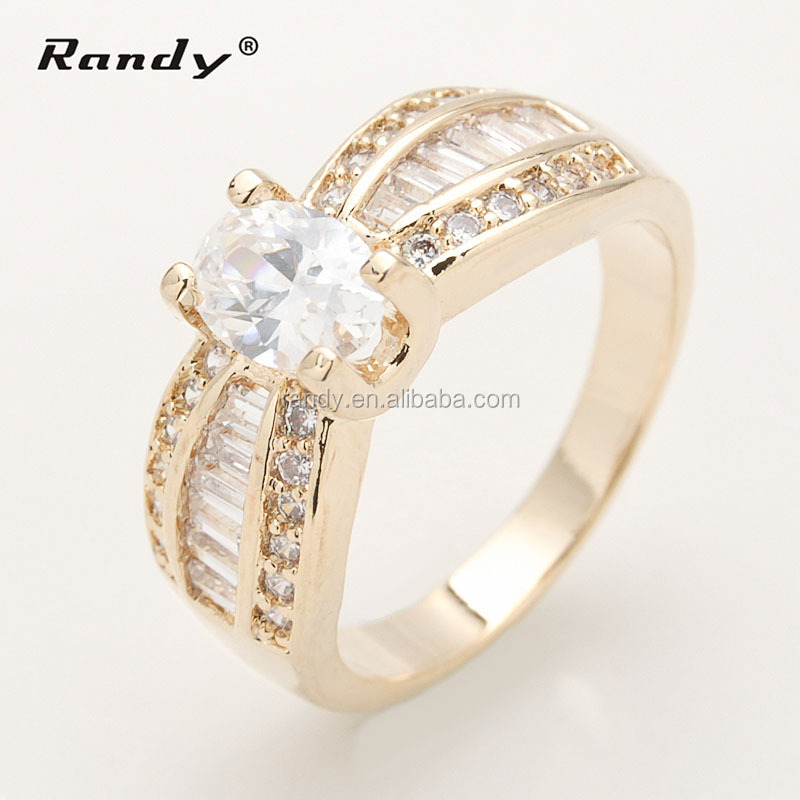 Fashion Goldsilver Wedding Ring Name DesignLucky Cz Diamond Stone