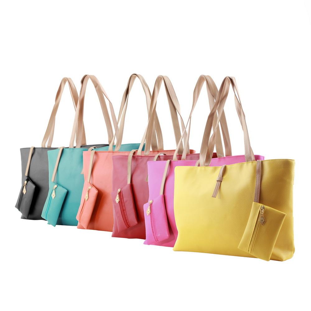 7e030b6e4b7 Women PU Leather Tote College Girls Shoulder Bags Hobo Handbags Satchel  Messenger bag Purse Bags Over