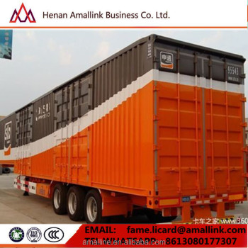 351b3eed51 HONGDA MOTOR 53ft container bulk cargo transporting 3 axles truck Enclosed  semi trailer van
