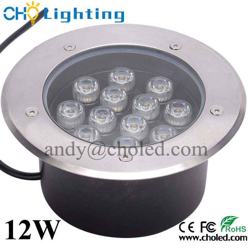IP67 High Power LED Underground Light CE RoHS 12W LED Inground Lamp Outdoor Waterproof Floor Light