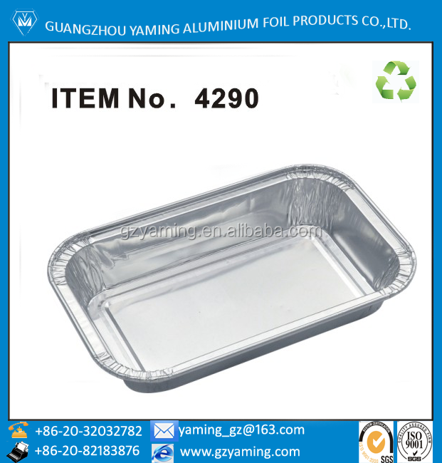 packaging boxes airline meal box for food disposable aluminium foil airline casserole with lid 4290