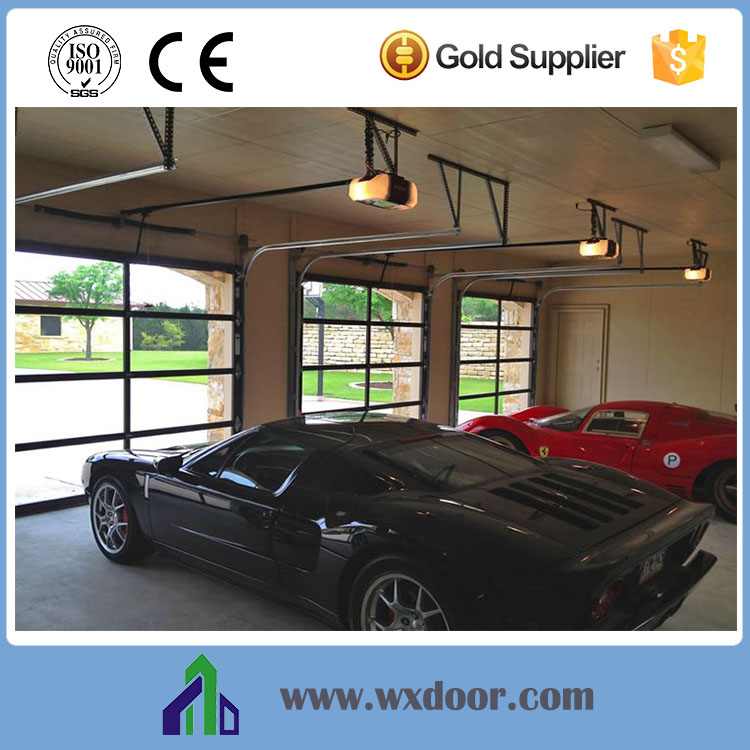 Luxury Resident Sectional Steel Garage Door -- Remote Control & Manually Operation