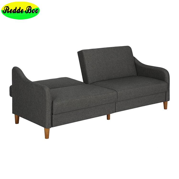 2017 Living Room Metal Frame Sofas Fabric Futon Sofa Bed B03