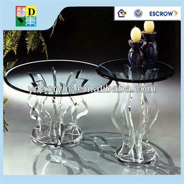 Personnalise De Haute Qualite Acrylique Table Ronde Ronde Table En Plexiglas