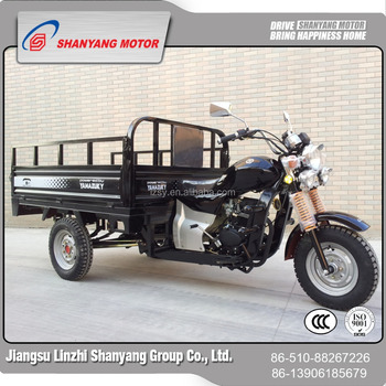 China Manual Gasoil Motor Tricycle 1 2*2m Cargo Box Exporting To Congo -  Buy High Quality Electric Garbage Tricycle,3 Wheel Trike Prices,Chinese  Cabin