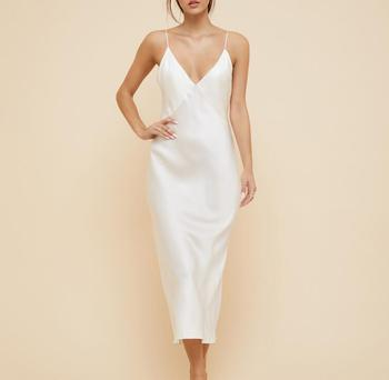 High Quality slip dress silk Satin Maxi Dress With Straps