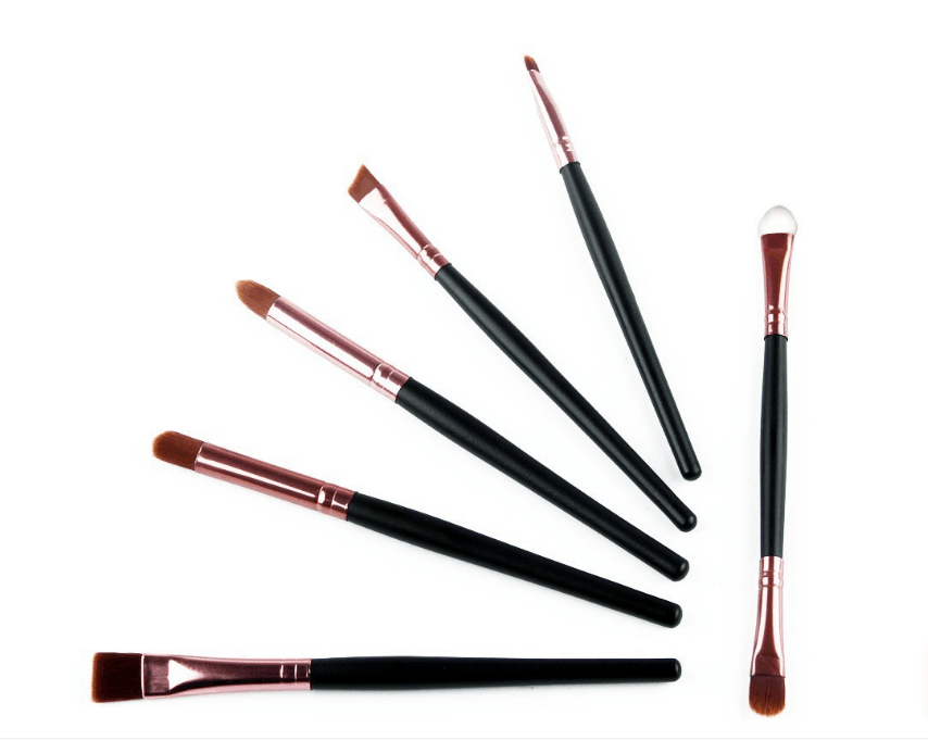 Private Label 6 Pcs/Kits Pro Cosmetic Makeup Brush Set Foundation Powder Eyeliner Full Complete Makeup Brushes