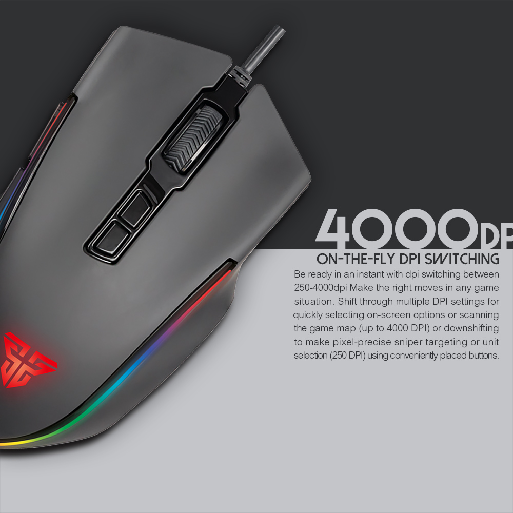 PUBG CS CROSSFIRE GAMING MOUSE WITH 7 PROGRAMMABLE BUTTON AND RUNNING RGB,  View Optical Ergonomic Gaming Mouse, Fantech Product Details from Guangzhou