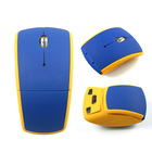 computer accessory 2.4G foldable arc wireless optical mouse for PC