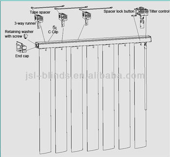 Panyu Factory Manufacturer J S L Vertical Blind Parts