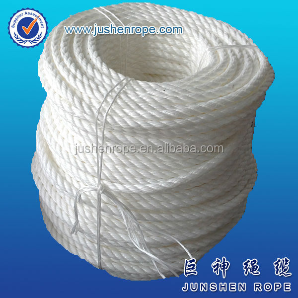 Super quality new design pp knit rope 1mm pe rope wine