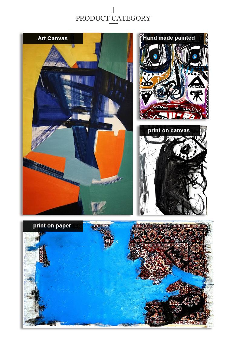 Pintado à mão Abstrata Moderna Da Arte Da Pintura A Óleo Da Lona