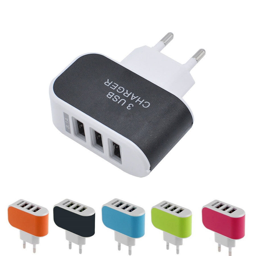 2A EU WALL Charger 3A Portable Mobile Phone Chargers Travel Dual usb Charger for Samsung for iphone