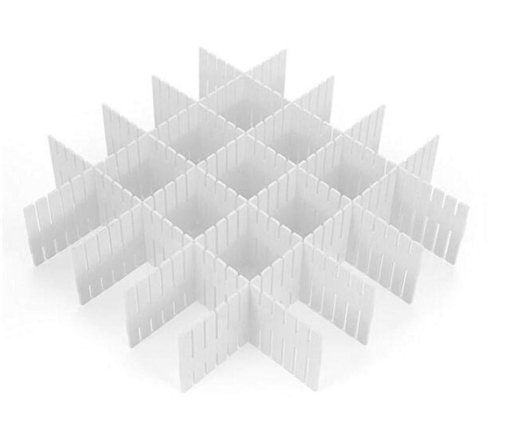 Louise Maelys DIY Plastic Grid Drawer Divider, Adjustable Plastic Drawer dividers Desk Organizer Office Supply Closet Stationary (8 pcs)