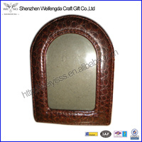 New Brown Arched Table Material Leather Top Picture Frame 3