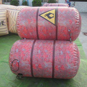 China paintball air bunkers obstacle course inflatable bunkers paintball