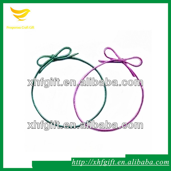 Metallic Yarn Braided Elastic Ribbon with Bows
