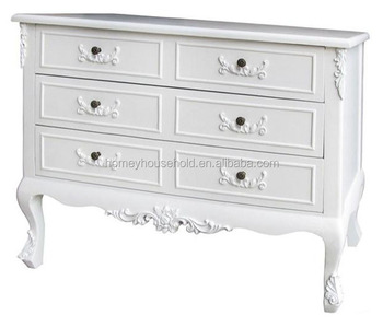 Cupboard Chest Of Drawers White 6 Drawers Shabby Chic Vintage ...