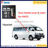 Automobiles ABS Chromed Door Handle Accessories for toyota Hiace auto Exterior Accessories