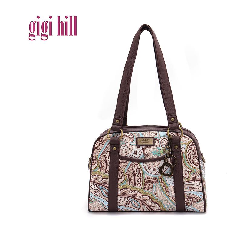 Gigi Хилл бренда женщин кисточкой ручные paternet weekender мешок ... d163dcf29710d