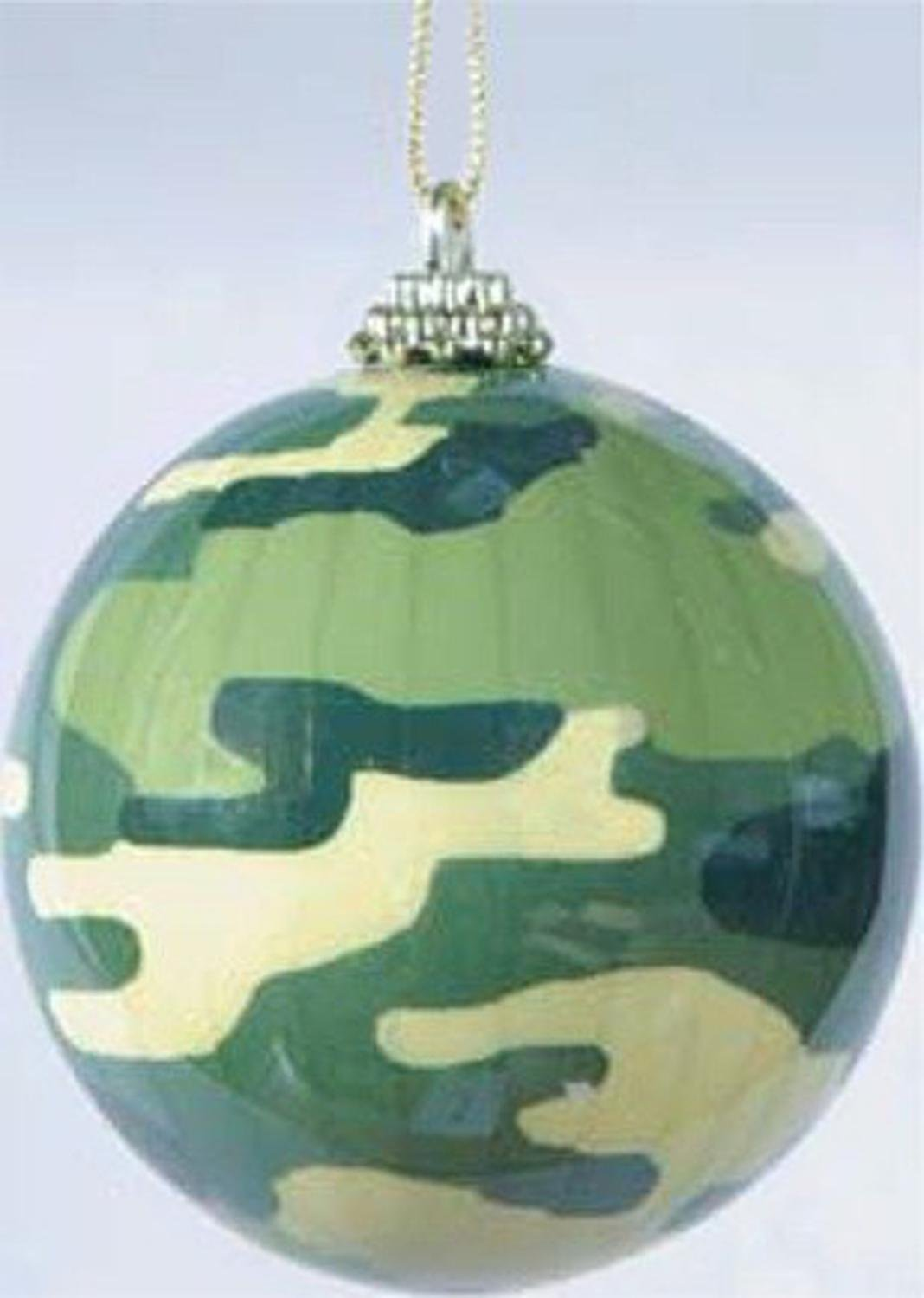 Buy Pleated Military Camouflage Christmas Ball Ornament 3\