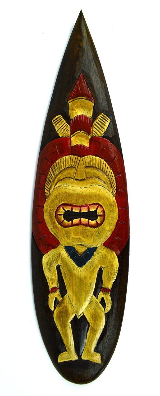 "Moai Easter Island Tiki Totem 6/"" Hand Carved#dpt537115"
