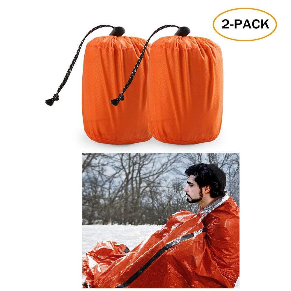 Get Quotations Twfric Emergency Sleeping Bag Waterproof Lightweight Thermal Bivy Sack Survival Blanket Bags Portable Nylon