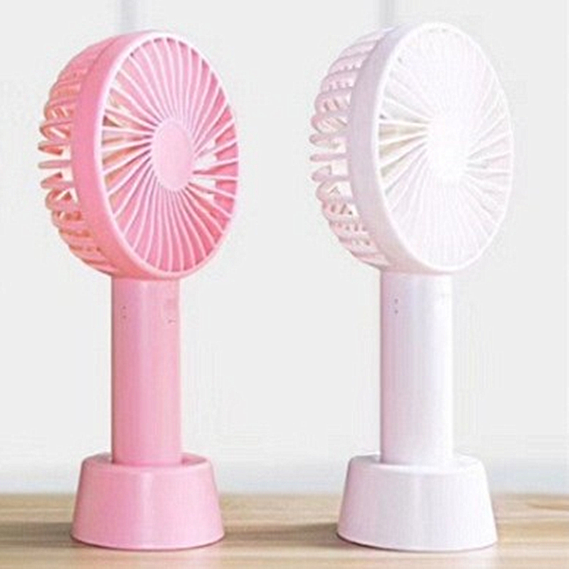 2019 Fashion Mini USB fan rechargeable portable usb fan  Electric Handheld Cooling Desk silent hand holding small fan