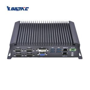 Embedded fanless rugged 2 ethernet industrial box mini desktop pc
