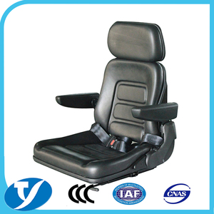 China back adjustable folding fork truck seat with slide track