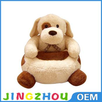Custom Plush Animal Chair For Child ,Plush Animal Dog Baby Sofa Chair