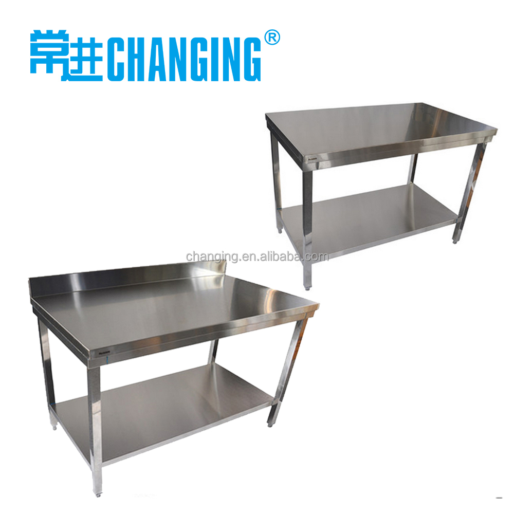 Kitchen Heavy Duty Metal Work Bench With 2 Layers Undershelf/stainless Steel  Work Table   Buy Stainless Steel Worktable,Stainless Steel Work Bench,Stainless  ...