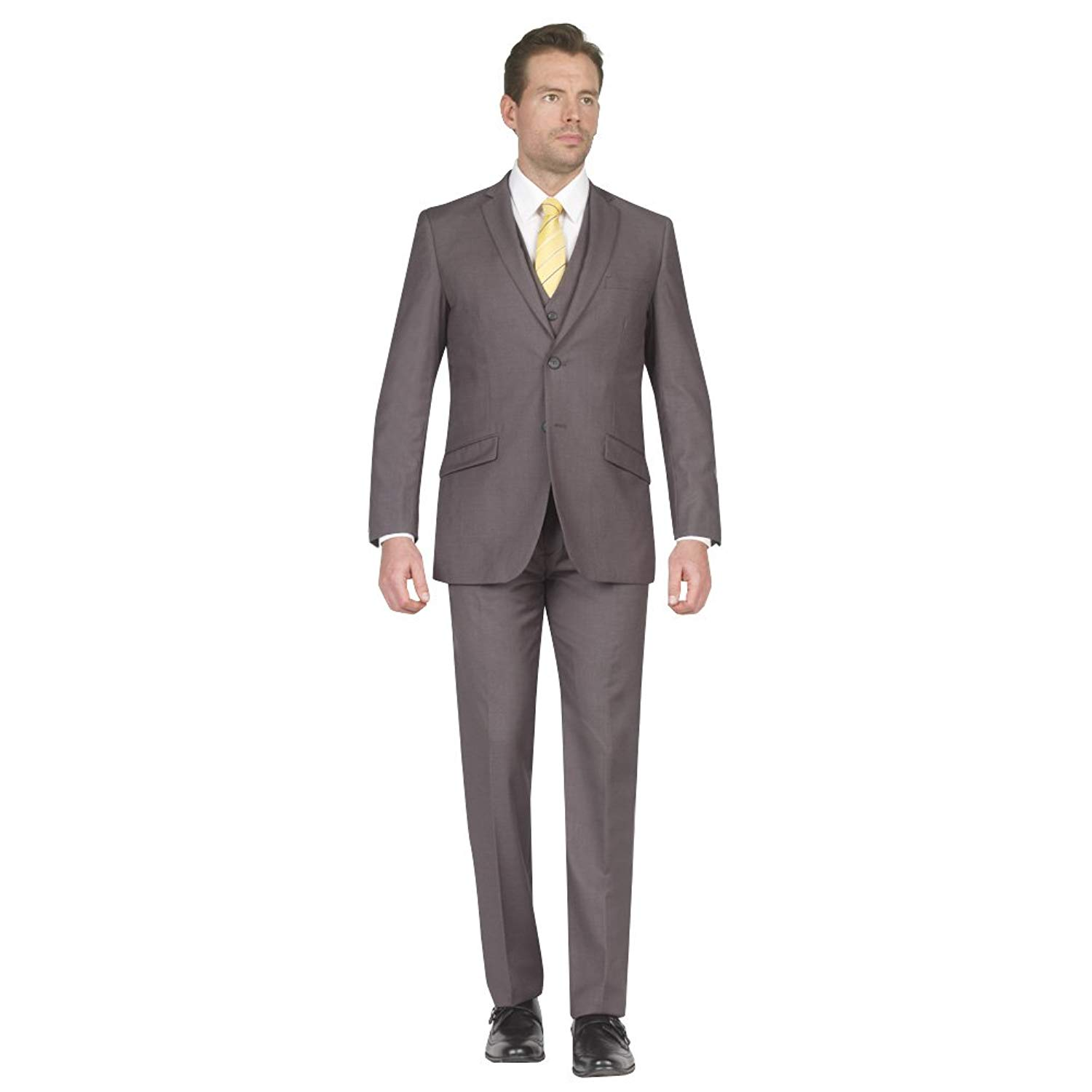 TAZIO Mens Suit 2 Button 3 Piece Slim Fit