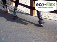 Multi-Brick 4'x5' Recycled Rubber Sidewalks & Patio Blocks For Agricultural - Diary & Equine